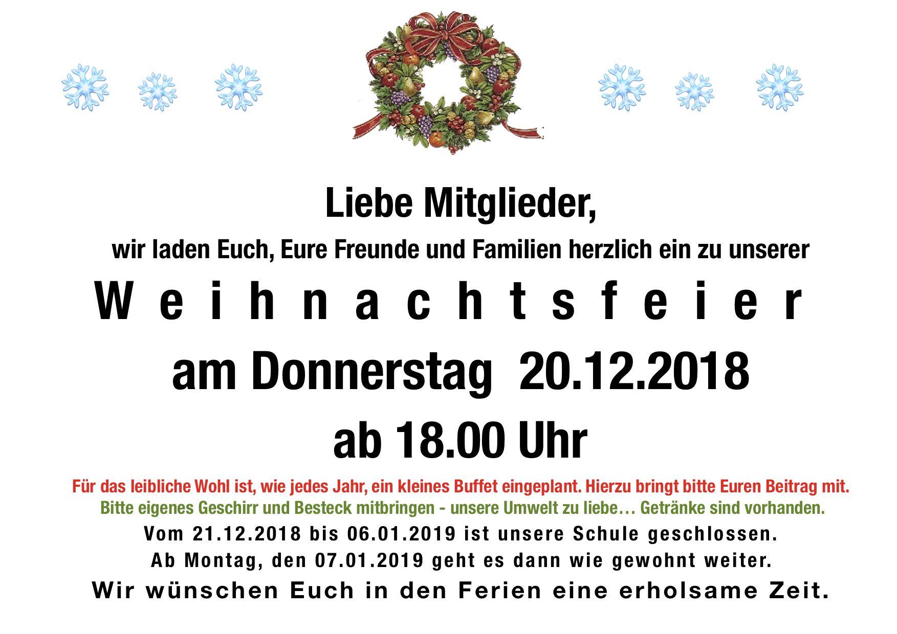 Beitrag Zur Weihnachtsfeier.Weihnachtsfeier 2018 Kampfkunstschule Germering